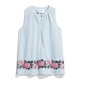Alice Blue Chesire Embroidered Tank